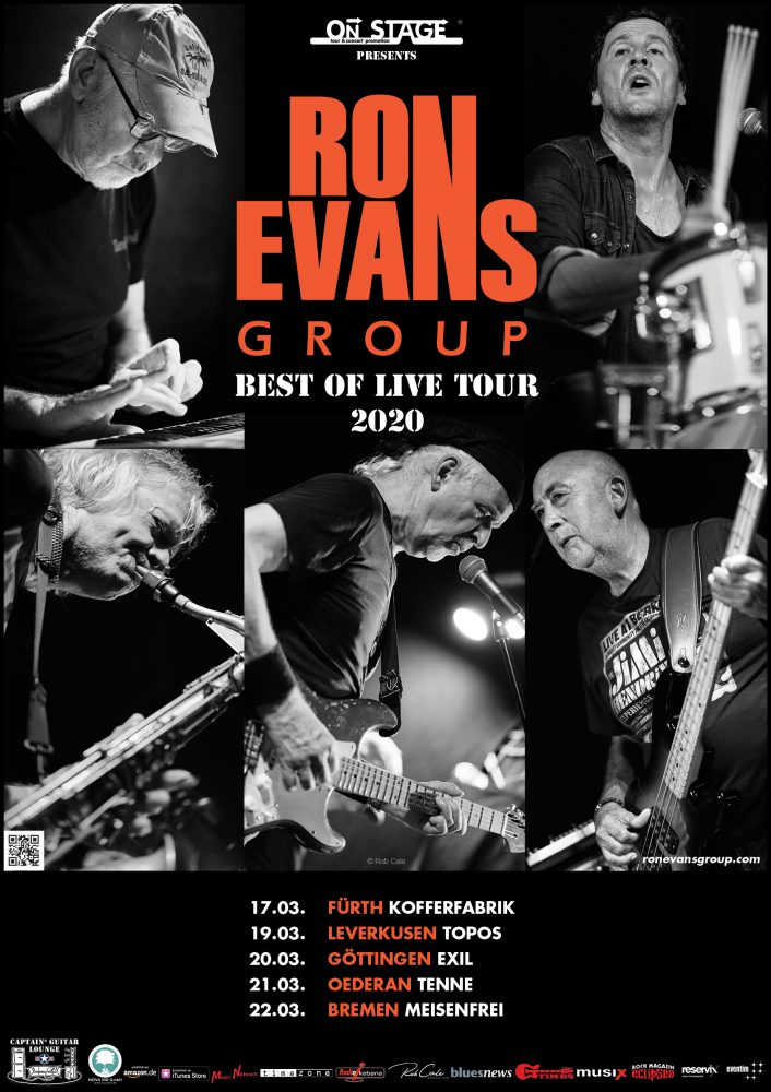 RON EVANS GROUP BEST OF LIVE TOUR 2020 POSTER
